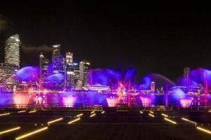 Online - http://thehoneycombers.com/singapore/marina-bay-sands-in-singapore-the-integrated-resort-reveals-a-new-light-and-water-show-at-the-promenade/